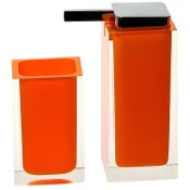 Bathroom Accessory Set Orange Two Pc. Accessory Set Made With Thermoplastic Resins Gedy RA680-67