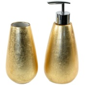 Bathroom Accessory Set 2 Piece Bathroom Accessory Set In Gold or Silver, SO580 Gedy SO580