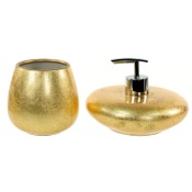 Bathroom Accessory Set Gold 2 Piece Bathroom Accessory Set, SO581-87 Gedy SO581-87