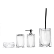 Bathroom Accessory Set Twist Accessory Set of Thermoplastic Resins Gedy TW100