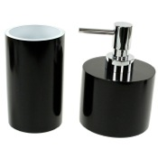 Bathroom Accessory Set 2 Piece Bathroom Accessory Set with Short Soap Dispenser Gedy YU581