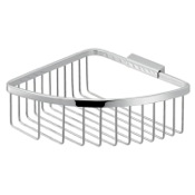 Shower Basket Modern Chromed Stainless Steel Wire Corner Shower Basket Gedy S080-13