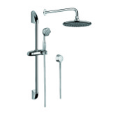 Shower System Chrome Shower System with Hand Shower with Sliding Rail, and Water Connection SUP1001 Gedy SUP1001