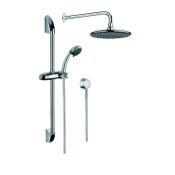 Shower System Chrome Shower System with Hand Shower with Sliding Rail, Showerhead, and Water Connection SUP1007 Gedy SUP1007