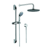 Shower System Chrome Shower System with Hand Shower with Sliding Rail, Showerhead, and Water Connection SUP1020 Gedy SUP1020