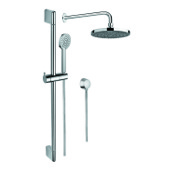 Shower System Chrome Shower Solution with Hand Shower, Sliding Rail, Showerhead, and Water Connection Gedy SUP1038