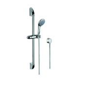 Handheld Showerhead Shower Solution with Chromed Hand Shower, Sliding Rail and Water Connection Gedy SUP1046
