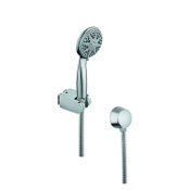Handheld Showerhead Chrome Hand Shower with Water Connection and Hose Gedy SUP1050