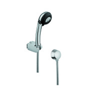 Handheld Showerhead Chrome Hand Shower with Hose and Water Connection Gedy SUP1051