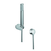 Handheld Showerhead Chrome Hand Shower with Hose and Brass Water Connection Gedy SUP1058