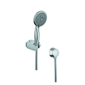 Handheld Showerhead Chromed Hand Shower with Water Connection and Hose Gedy SUP1059