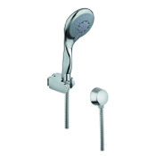 Handheld Showerhead Chromed Hand Shower with Chrome Hose and Brass Water Connection Gedy SUP1060