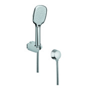 Handheld Showerhead Chrome Hand Shower with Hose and Water Connection Gedy SUP1064