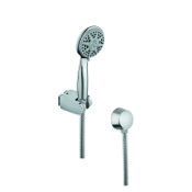 Handheld Showerhead Hand Shower in Chrome with Hose and Water Connection Gedy SUP1066