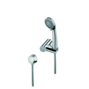 Handheld Showerhead Hand Shower, Shower Bracket, and Water Connection In Chrome Finish Gedy SUP1071