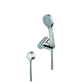 Handheld Showerhead Hand Shower, Shower Holder, and Water Connection In Chrome Finish Gedy SUP1075