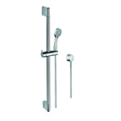 Handheld Showerhead Sliding Rail, Hand Shower, and Water Connection in Chrome Gedy SUP1101