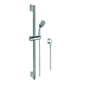 Handheld Showerhead Chrome Sliding Rail, Hand Shower, and Water Connection Gedy SUP1102
