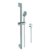 Handheld Showerhead Sliding Rail, Hand Shower, and Water Connection in Chrome Gedy SUP1105