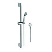 Handheld Showerhead Polished Chrome Hand Shower, Water Connection, and Sliding Rail Gedy SUP1107