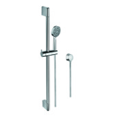 Handheld Showerhead Chrome Hand Shower, Water Connection, and Sliding Rail Gedy SUP1108