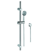 Handheld Showerhead Chrome Sliding Rail, Hand Shower, and Water Connection Gedy SUP1114