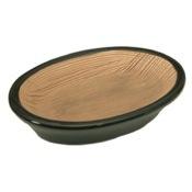 Soap Dish Round Moka Pottery Soap Holder Gedy TU11-29