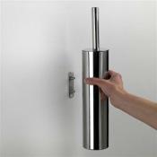 Toilet Brush Wall Mounted Round Polished Chrome Toilet Brush Holder Gedy ED34-03-13