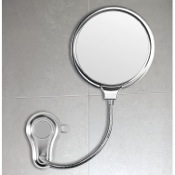 Makeup Mirror 2 Faced Shatterproof Polished Steel Bathroom Mirror Gedy HO08-13