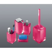 Bathroom Accessory Set Rainbow Pink Accessory Set of Thermoplastic Resins Gedy RA300-76