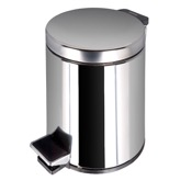 Waste Basket Stainless Steel Bathroom Pedal Waste Bin Geesa 626-C