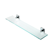 Bathroom Shelf Chrome Brass and Frosted Glass Bathroom Shelf Geesa 6801-02