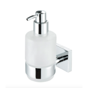 Soap Dispenser Chrome Brass and Frosted Glass Soap Dispenser Geesa 6816-02