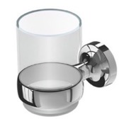 Toothbrush Holder Wall Mounted Chrome Brass and Glass Toothbrush Holder Geesa 7302-02