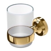 Toothbrush Holder Wall Mounted Gold Brass and Glass Toothbrush Holder Geesa 7302-04
