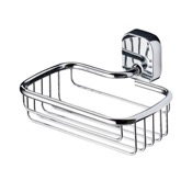 Shower Basket Rectangle Wall Mounted Chrome Shower Basket Geesa 2414-02