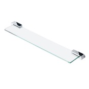 Bathroom Shelf Rectangle Wall Mounted Chrome Bathroom Shelf Geesa 4501-02