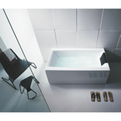 Bathtub White Rectangular Bathub With 3 Panels Glass PR000A0-3