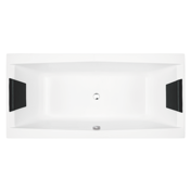 Bathtub White Rectangular Drop-In Bathtub Glass PP000A0