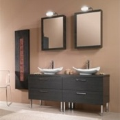 Bathroom Vanity Rectangular His and Hers Vanity Set A17 Iotti A17