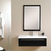 Bathroom Vanity Contemporary Vanity Set with Rectangular Mirror FL1 Iotti FL1