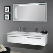 Bathroom Vanity Horizontal Mirror with Dual Sink Vanity Set FL2 Iotti FL2