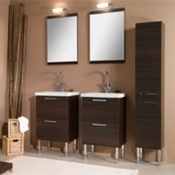 Bathroom Vanity Dual Vanity Set With His And Hers Mirrors L11 Iotti L11