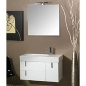 Bathroom Vanity Contemporary 3 Pc. Vanity Set with Mirror, and Ceramic Sink NE1 Iotti NE1