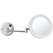 Makeup Mirror Round Wall Mounted 3x Makeup Mirror with LED Nameeks AR7706