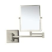 Makeup Mirror Satin Nickel Double Face 3x Wall Mounted Magnifying Mirror Nameeks AR7721-SNI-3x