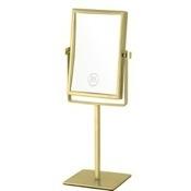 Makeup Mirror Gold Double Face Rectangular 3x Makeup Mirror AR7726-O-3x Nameeks AR7726-O-3x