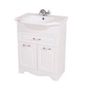 Bathroom Vanity 23 Inch Floor Standing White Vanity Cabinet With Fitted Sink CLA-F01 Nameeks CLA-F01