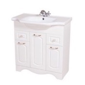 Bathroom Vanity 31 Inch Wall Mounted White Vanity Cabinet With Fitted Sink CLA-F02 Nameeks CLA-F02