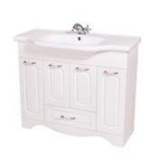 Bathroom Vanity 39 Inch Wall Mounted White Vanity Cabinet With Fitted Sink CLA-F03 Nameeks CLA-F03